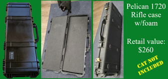 USED: Pelican 1720 rifle case with uncut foam in Camp Pendleton, California