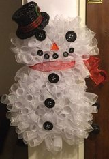 Mesh Snowman Wreath in Fairfield, California