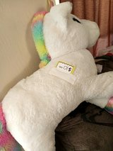 Giant stuffed unicorns in Yucca Valley, California