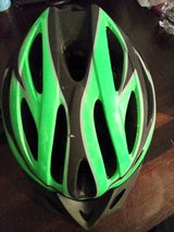 Black and green bicycle helmet in Yucca Valley, California