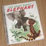 Vintage 1974 Little Golden Book The Saggy Baggy Elephant Hard Cover in Bolingbrook, Illinois