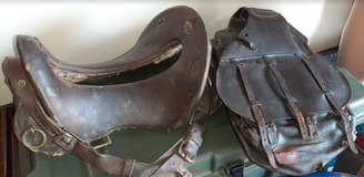Old US Army  Saddle and saddle bag in Fort Campbell, Kentucky
