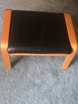 IKEA Poang Leather Ottoman/Footstool in Vacaville, California
