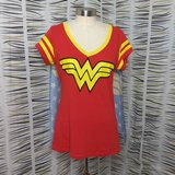 Wonder Woman t-shirt with cape Halloween costume in Pasadena, Texas