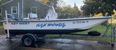 REDUCED PRICE! BOAT - SKIFF - KEY WEST 2010 197 SK MODIFIED V HULL YAHAMA 90HP ANCHOR POLE in Camp Lejeune, North Carolina