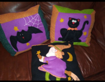 Halloween pillows in The Woodlands, Texas