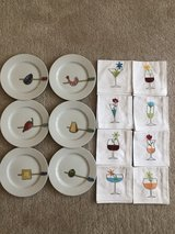 Crate & Barrel Appetizer plates, napkins in Naperville, Illinois