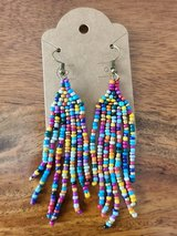 Multicolored beaded earrings in Converse, Texas