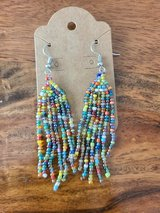 Multicolor fringe beaded earrings in Converse, Texas