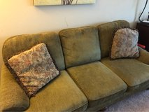 Sherrill Furniture Green Living Room Sofa Couch in Naperville, Illinois