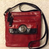 """Crossbody purse in red genuine leather by """"Giani Bernini"""" in Yucca Valley, California"""
