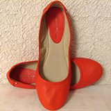 9.5 M shoes by Antonio Melani in deep orange soft genuine glove leather and padded insoles in Yucca Valley, California