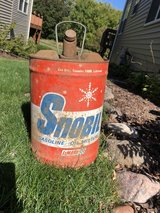 antique gas can in Plainfield, Illinois