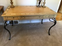 Wood & Metal Desk/Table in Yorkville, Illinois