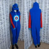 Captain America one-piece pj's or Halloween Costume in Pasadena, Texas