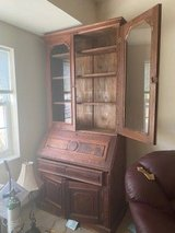 Oak Desk / Bookcase OLD / in Plainfield, Illinois