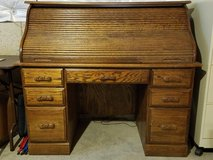 Oak Roll top desk w/chair in Yorkville, Illinois