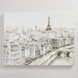 World Market Paris City Sketch Canvas Wall Art in St. Charles, Illinois
