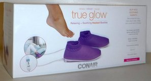 New! True Glow by Conair Relaxing + Soothing Heated Spa Booties in Wheaton, Illinois