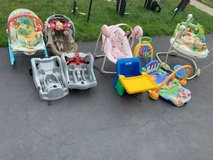 Various baby kid items clothing walkers strollers toys ect - in Oswego, Illinois