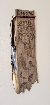 Wood Burned Sign, Dream Catcher in Alamogordo, New Mexico