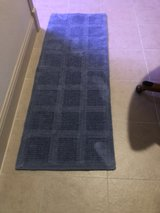 blue runner rug in Conroe, Texas