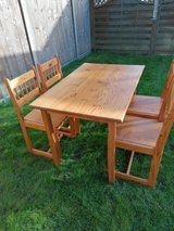 Solid Pine Table with four matching chairs in Lakenheath, UK