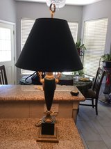 Large metal lamp in Kingwood, Texas