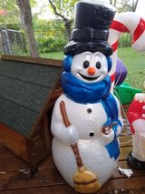 Christmas Snowman Blowmold General Foam Rare in Orland Park, Illinois