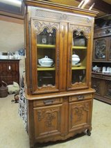 Antique cabinet showcase Alsace walnut top chest of drawers in Ramstein, Germany