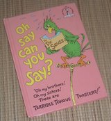 Vintage 1979 Dr Seuss Oh Say Can You Say? Hard Cover Book in Yorkville, Illinois