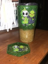 jack and grinch friends tumbler and coaster in Cleveland, Texas