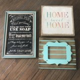 Three home decor pictures & frame in Warner Robins, Georgia