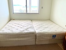 Used 2 Mattresses w/ Box Springs (As-is) in Okinawa, Japan