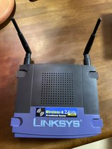 Linksys Wi-Fi router in Okinawa, Japan