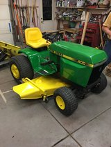 John Deere 400 garden tractor in Bartlett, Illinois