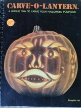 Pumpkin carving booklet with 20 patterns and instructions in Vista, California