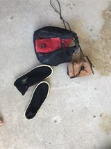 Chalk bags, water shoes in Okinawa, Japan