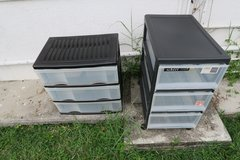 pakage deal 2 plastic dressers in good condition in Okinawa, Japan