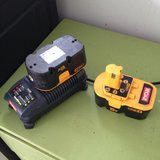 Ryobi 18 volt batteries and charger in Warner Robins, Georgia