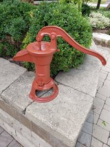 Vintage Cast Iron hand well water pump in Plainfield, Illinois
