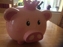 Pink Pig with Crown Large Piggy Bank Money box in Lakenheath, UK