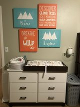 6 Drawer Dresser with Changing Table Accessory in Fort Lewis, Washington