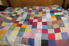 AMERICAN HAND MADE QUILT 8' X 6' in good cond in Okinawa, Japan