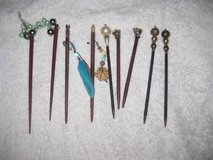 9 Asian style Hair Stick Pins in Okinawa, Japan