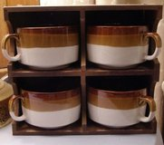 Vintage mugs with hanging rack2 in Beaufort, South Carolina