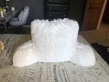 New White Fur Bed Rest Pillow in Bolingbrook, Illinois