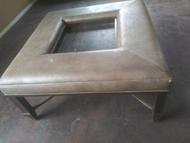BIG COFFEE TABLE. CENTRAL TABLE. HEAVY QUALITY LEATHER AND COPPER LEGS in Nellis AFB, Nevada