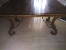 ANTIQUE DINING TABLE. PECAN. SOLID. QUALITY. HEAVY. in Nellis AFB, Nevada