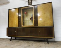 Mid Century Highboard  or Lowboard with Mirrored Mini Bar in Ramstein, Germany